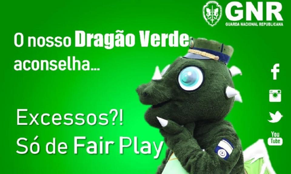 Dragão verde da GNR alerta para os excessos e pede fair play