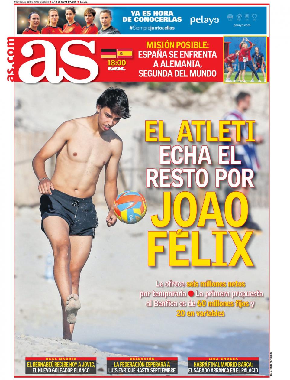 FOTO: Atlético de Madrid «louco por Félix», avança o As